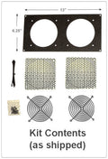 CG Fan Bracket 120mm Kit for (2 Hole / Bare Kit ) Multimedia Cabinet Cooling / Home Theaters - Coolerguys