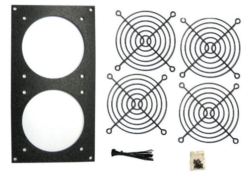 CG Bare Fan Bracket Kit for 92mm (2 hole) Multimedia Cabinet Cooling / Home Theaters - Coolerguys