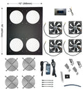 Comcool Stand Deluxe 4 Fan with built in LED controller  CCS 120-4LED - Coolerguys