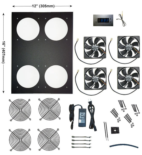 Comcool Stand Deluxe 4 Fan with built in LED controller  CCS 120-4LED