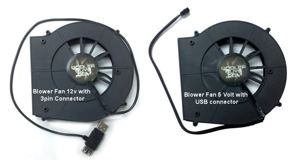 ComCool Stand with Dual 120mm Rear Blower fans and LED controller w/ USB or 12V Powered