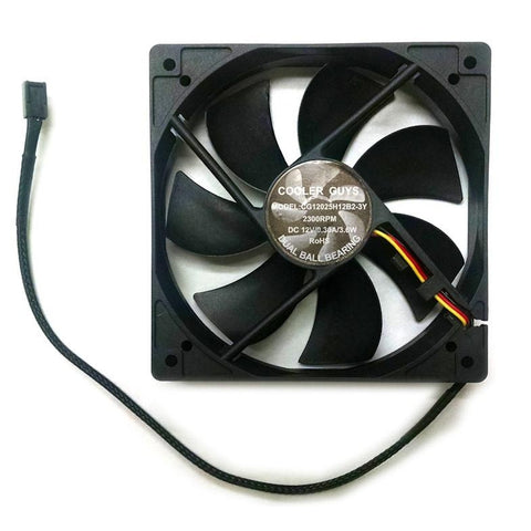 Coolerguys 120mm dual ball bearing high speed fan 3 pin fan #CG12025H12B2-3Y