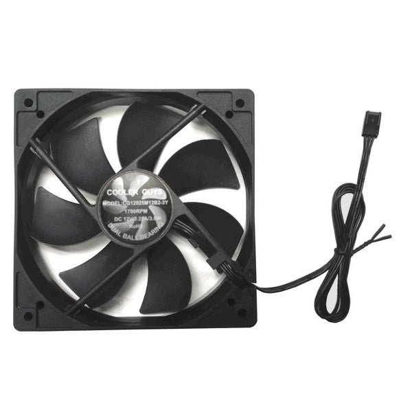 Coolerguys 120x120x25mm 3 Pin Med Speed Fan CG12025M12B2-3Y