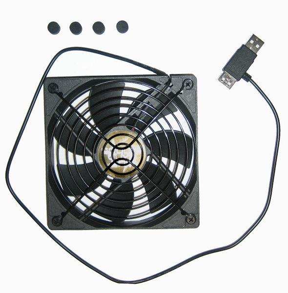 Coolerguys 120x120x25mm 1200RPM USB Fan with Grill