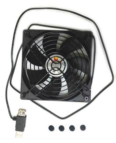 Coolerguys 120x25mm USB Fan Grill 1500RPM 1M Tail DF1202505B2MN  UL Listed
