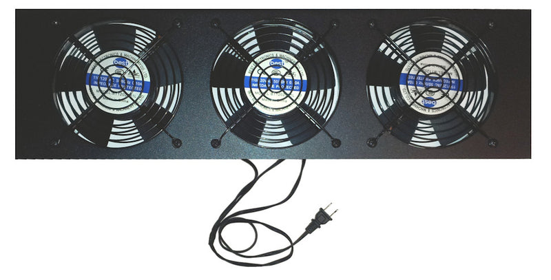 Coolerguys 3U Rack mount System kit with 3-120mm low speed AC fans and power cord CG3U3-120L