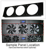 Coolerguys  3U Rackmount Bracket with Fan Grills
