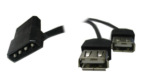 Coolerguys 4 pin Molex to Dual USB 5V Power Connecter