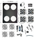 CoolerGuys Comcool stand deluxe 4 fan with variable control CCS 120-4M - Coolerguys