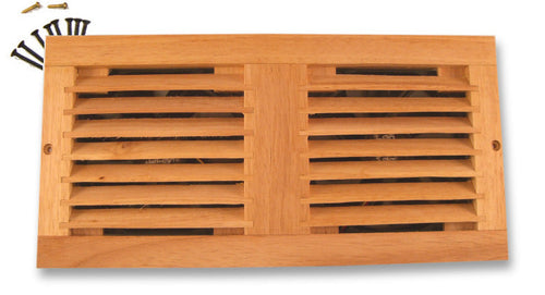 Coolerguys Dual 120mm oak vent cabinet fan grill only. - Coolerguys