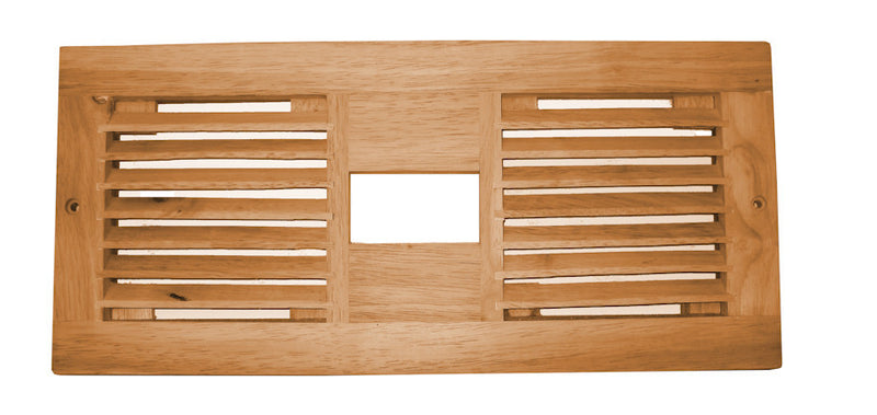 Coolerguys Dual 120mm Wood vent with cutout for LED - Coolerguys