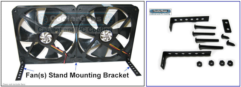 Coolerguys Fan Mount / Stand Bracket Kit (Black Metal) - Coolerguys