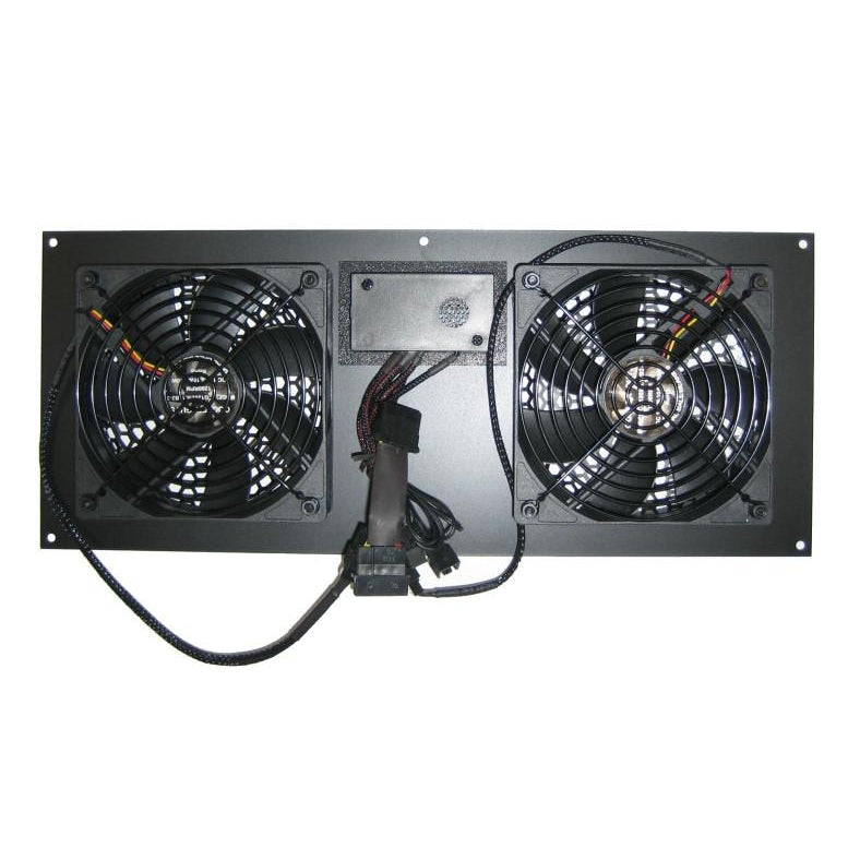 ... Coolerguys PRO Metal Dual 120mm Deluxe Cabinet Cooling Kit With  Built In LED Controller ...