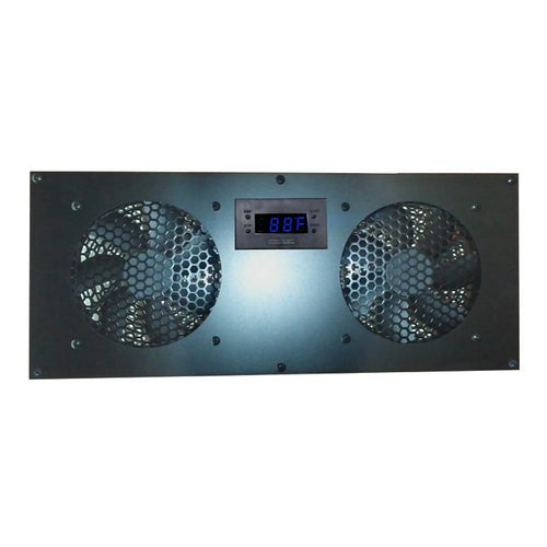 Coolerguys PRO-Metal Dual 120mm Deluxe Cabinet Cooling Kit with built-in LED Controller CABCOOL 1202-Deluxe-M - Coolerguys