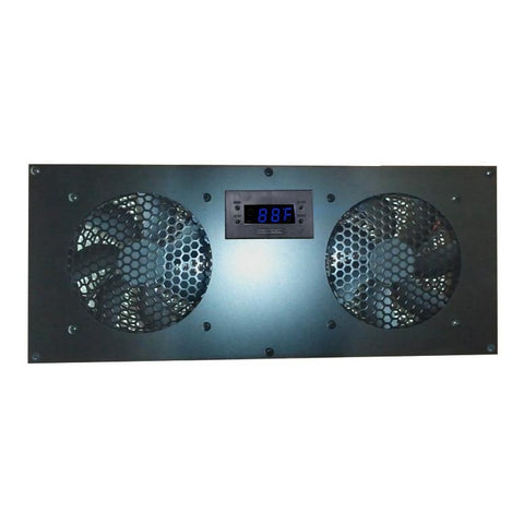 Coolerguys PRO-Metal Dual 120mm Deluxe Cabinet Cooling Kit with built-in LED Controller CABCOOL 1202-Deluxe-M
