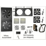 Coolerguys PRO-Metal Series Dual 120mm Cooling Kit CabCool 1202-M