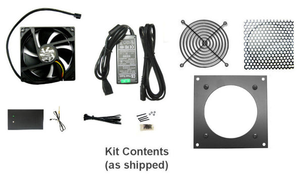 Coolerguys PRO-Metal Series Single 80mm Cooling Kit CabCool801-M