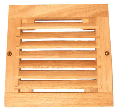 Coolerguys Single 120mm oak vent cabinet fan grill only. - Coolerguys