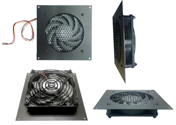 Coolerguys Single Thermal control 120mm AV Cabinet Cooler with Gentle Typhoon Fans CABCOOL1201-MGTF