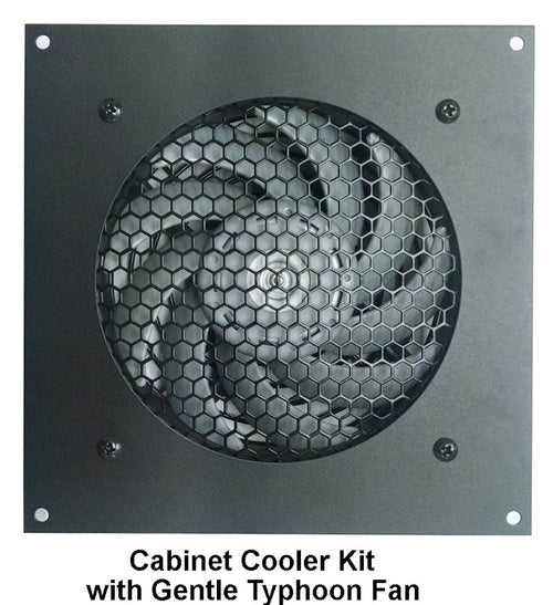 Coolerguys Single Thermal control 120mm AV Cabinet Cooler with Gentle Typhoon Fans CABCOOL1201-MGTF - Coolerguys