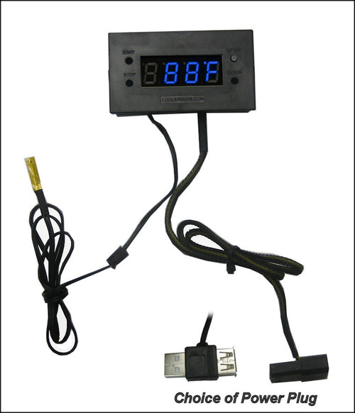 Coolerguys Thermal Monitor with Digital LED Display - Coolerguys