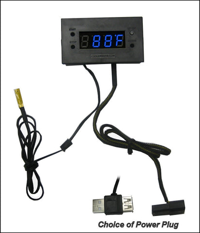 Coolerguys Thermal Monitor with Digital LED Display