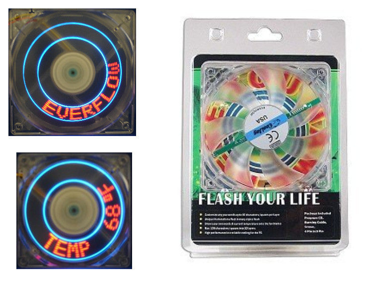 Cooljag Programmable Mini-LED Flash Fan 120 x 25mm EF4-120