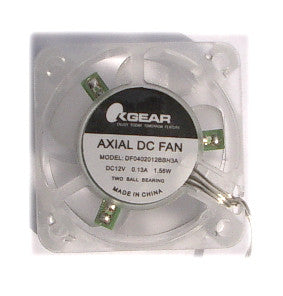 Crystal OKGear 40x20mm Clear Fan High Speed with 3 Blue LEDs DF0402012BBH3A