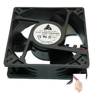 Delta 127mm x 127mm x 38mm 24 volt fan with 3 pin connector #EFB1324HHE