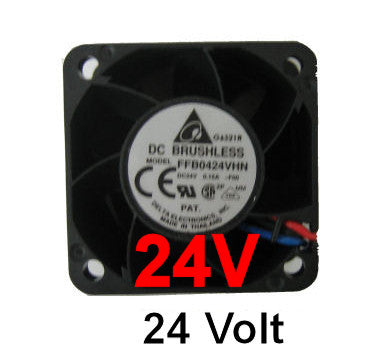 Delta  40x40x28mm 24 volt fan with 3 pin connecter FFB0424VHN - Coolerguys