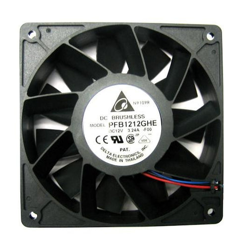 Delta PFB1212GHE-F00 120mm Exterme-Hi Case Fan, 4800RPM Speed, 217.80 CFM