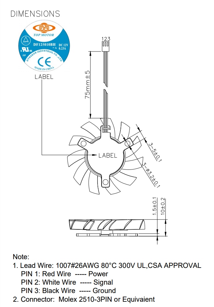 Top Motor Frameless 50x10mm fan 3 wire/3 pin connector DF125010BH 3G on 3 wire potentiometer diagram, 3 wire pump diagram, 3 wire solenoid diagram, 3 wire thermostat diagram, 3 wire control diagram, 3 wire alternator diagram, 3 wire voltage regulator diagram, 3 wire sensor diagram, 3 wire compressor diagram,
