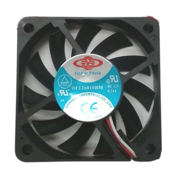 Dynatron 60x10mm Med speed 12V Dual ball bearing fan with 3 wire, 3 pin # DF126010BM