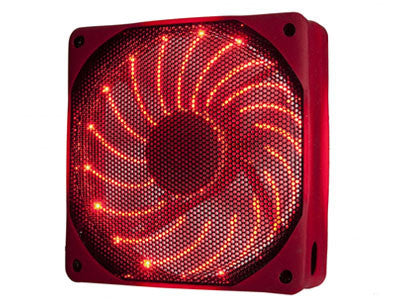 Enermax 120mm x 25mm USB Rubber Fan #UCUR12-R Red - Coolerguys