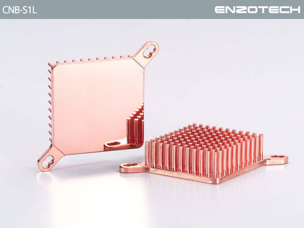 Enzotech (Low Profile) One Piece Forged Copper Northbridge heatsink  # CNB-S1L