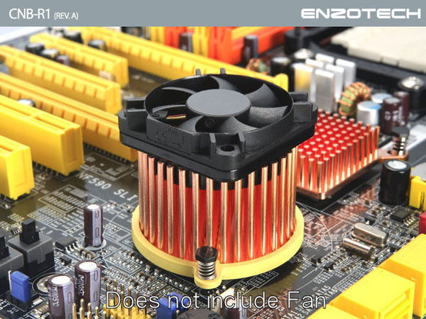 Enzotech One Piece Forged Copper Northbridge heatsink # CNB-R1 (Rev. A)