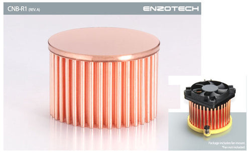 Enzotech One Piece Forged Copper Northbridge heatsink # CNB-R1 (Rev. A) - Coolerguys