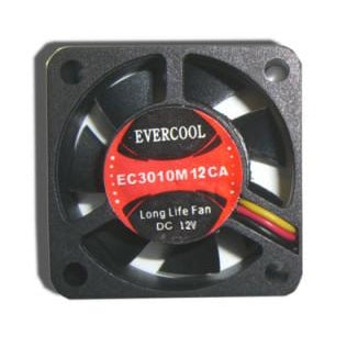 Evercool 30mmx10mm 12 Volt Fan with 3/4 Pin Connector-EC3010M12CA - Coolerguys
