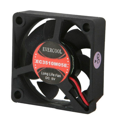 Evercool 35x35x10mm 5 volt Med speed fan with 2 pin connector P/N EC3510M05E