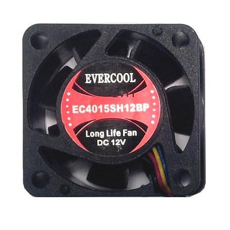 Evercool 40x40x15mm PWM Fan with Connector-EC4015SH12BP - Coolerguys