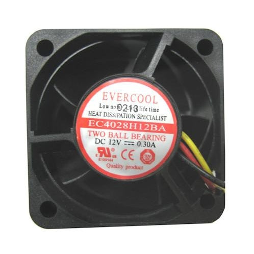 Evercool 40x40x28mm High Speed 12 Volt-EC4028H12BA - Coolerguys