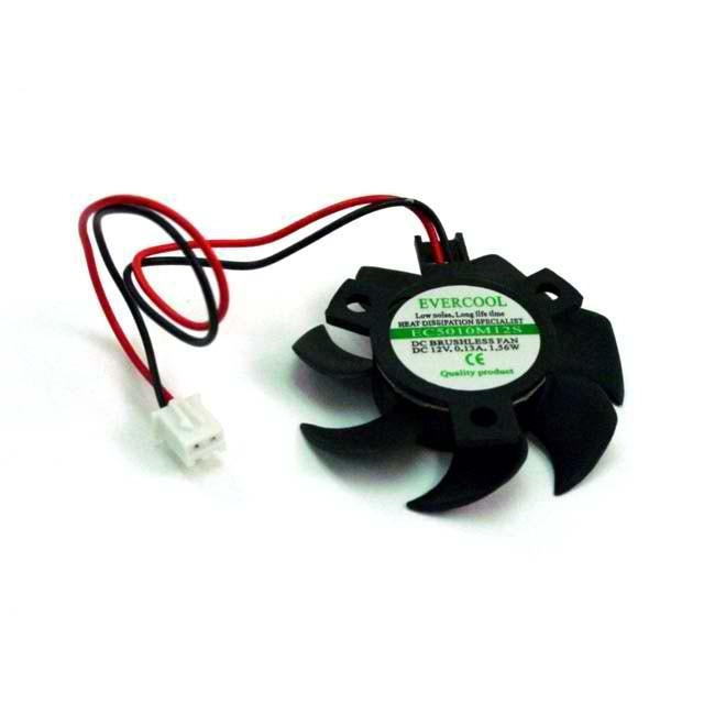 Evercool Video Card Fan Round frame VGA Fan 50x50x10mm  VC-EC5010M12S-B - Coolerguys