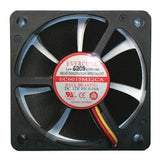 Evercool 60 x 15mm med speed 12 volt fan with 3 pin connector EC6015M12CA
