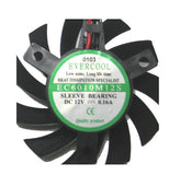 Evercool 60x60x10mm Med Speed 12 volt Frameless Fan # VC-EC6010M12S-B