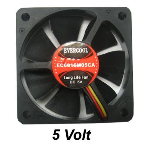 Evercool 60x60x15mm 5 Volt Fan EC6015M05CA - Coolerguys