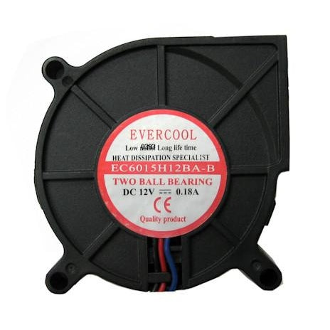 Evercool 60x60x15mm Dual Ball Bearing Blower Fan F