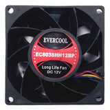 Evercool 80x38mm 12V PWM fan with connector #EC8038HH12BP