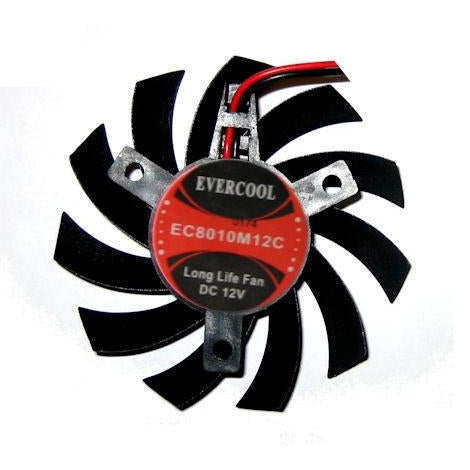 Evercool 80x80x10mm Video Card Frameless Fan VC-EC8010M12C-B - Coolerguys