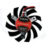 Evercool 80x80x10mm Med Speed 12 volt Frameless Fan # VC-EC8010M12C-B