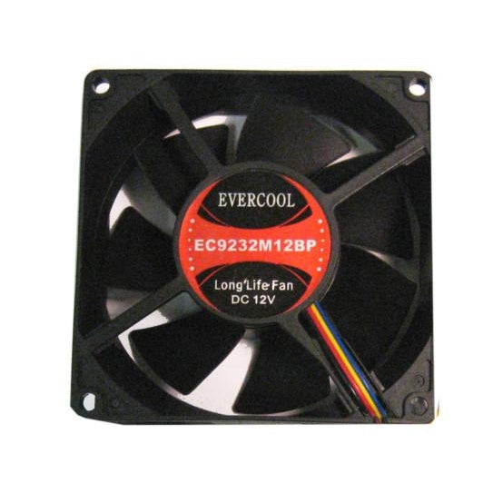 EVERCOOL 92x92x32mm Medium-Speed 12V Fan 3-4pin, EC9232M12BP